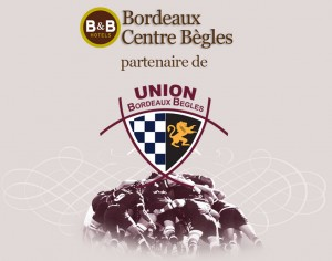 L'hôtel B&B Bordeaux Centre Bègles devient partenaire de l'UBB